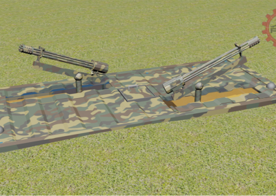Fifty50 Backoff Dual GAU/19 Kinetic Modules - Woodland Model