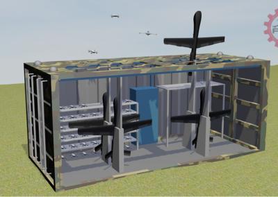 Fifty50 Backoff Dual Hangar Modules - Woodland Model